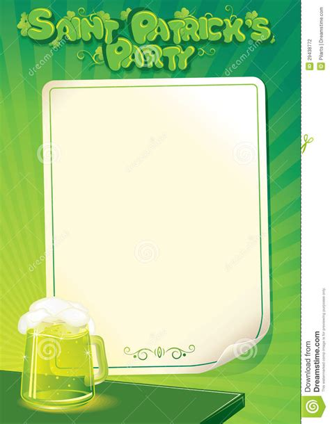 st patricks day flyer template for free download on pngtree