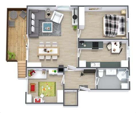 10 Awesome Two Bedroom Apartment 3d Floor Plans Amazing Home Design 3d Two Floors