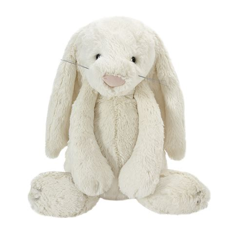 large cream bashful bunny soft toy at laura ashley