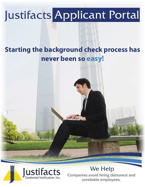 Justifacts Background Check Justifacts Applicant Portal Overview