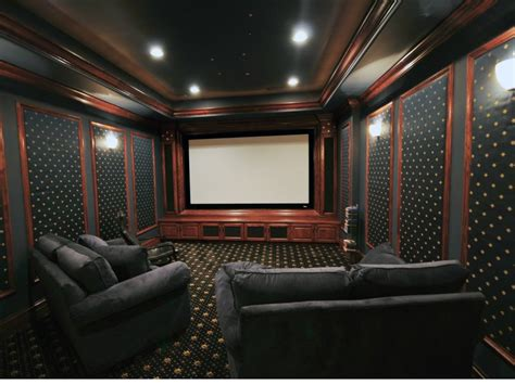 home theater blackout curtains soundproof home theater room home review