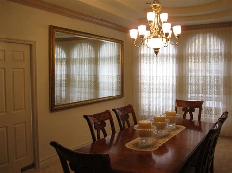 large dining room mirror  expands  rooms