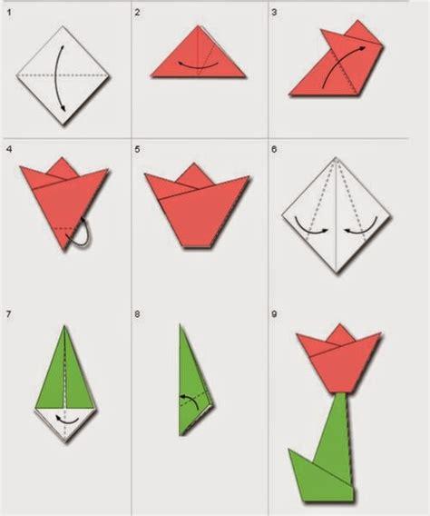 membuat origami bunga  senang tutorial origami