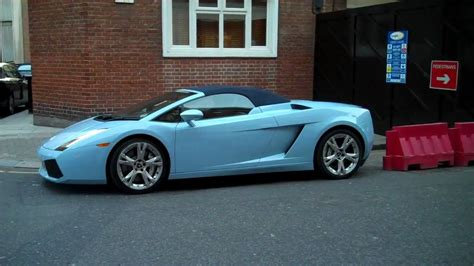 Baby Lamborghini Car Baby Blue Lambo Gallardo Spyder