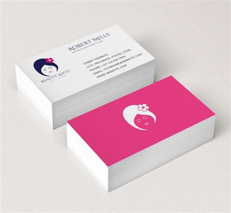 beauty salon logo business card template the design love