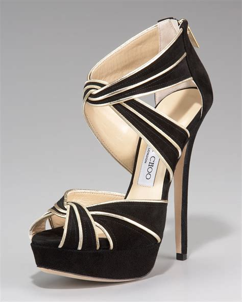 high heels jimmy choo jimmy choo piped suede high heel sandal in black black