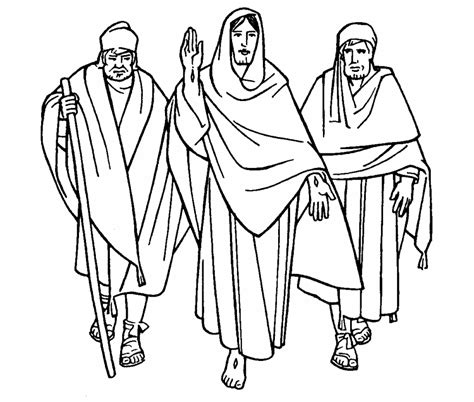 coloring page of jesus on the road to emmaus discepoli di emmaus
