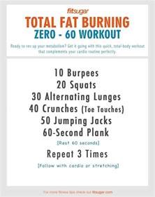 burning workouts for