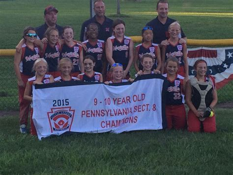 pa little league sectionals morrisville 10 and under softball team snags little league