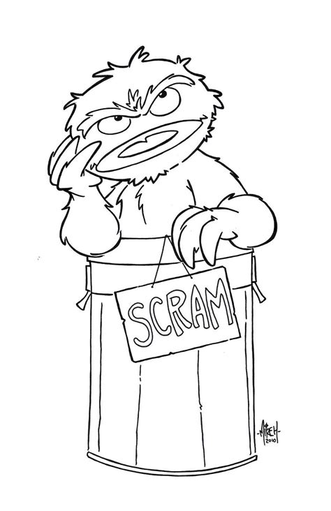 Oscar The Grouch Coloring Page Coloring Home Oscar The Grouch Coloring Page