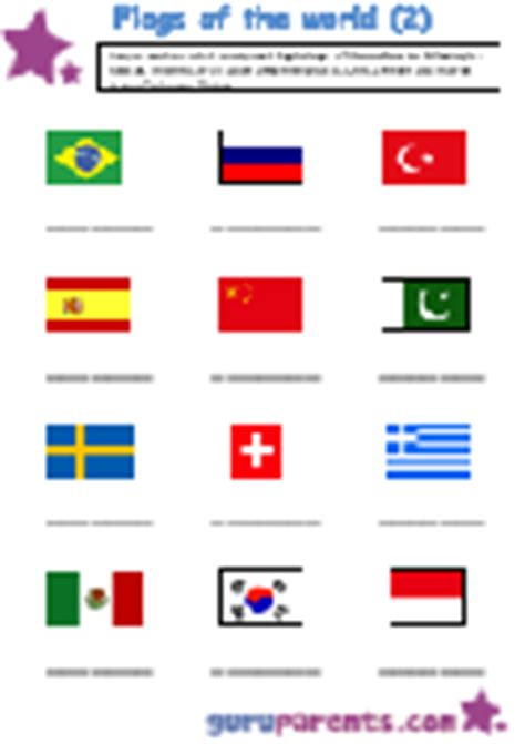 flags of the world exercise flags around the world guruparents