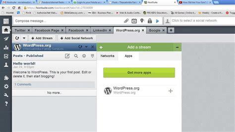 wordpress tutorial youtube wordpress app for hootsuite tutorial youtube