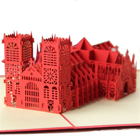Origami Pop Up Greeting Cards - excusive westminster cathedral handmade creative kirigami