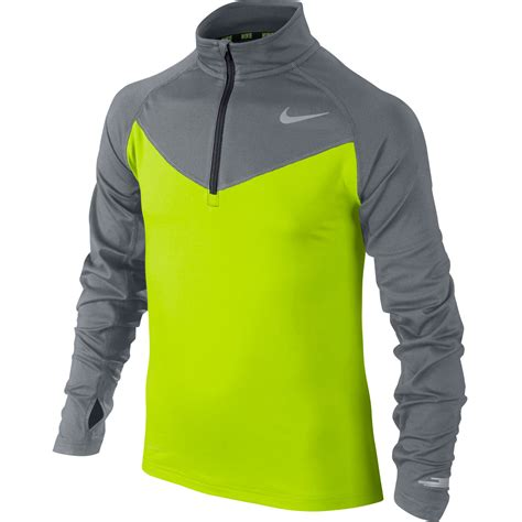 nike top running for wiggle nike element 1 2 zip sleeve top youth fa15