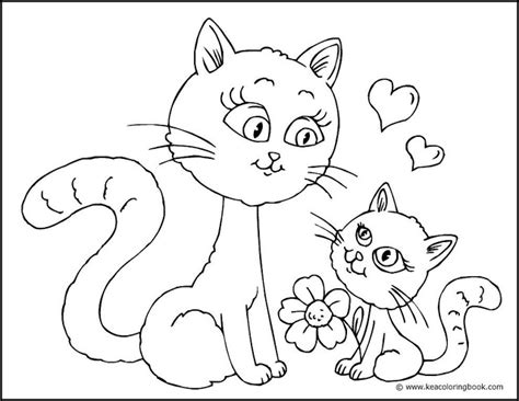 coloring pages of cats and kittens cute cat coloring pages bestofcoloring com