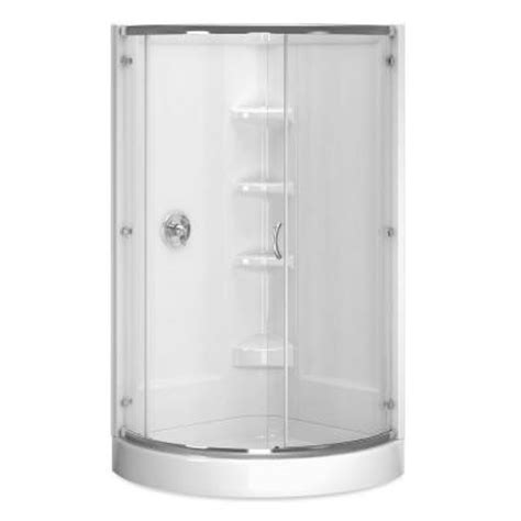 cerise 39 in x 44 in x 78 in shower enclosure in chrome