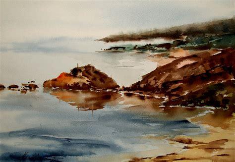 imagenes de paisajes en acuarela como pintar paisajes marinos con acuarelas tutoriales