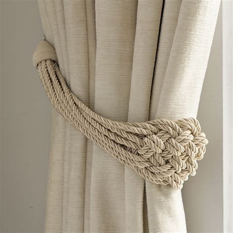 drapery rope plaited rope natural curtain tieback laura ashley