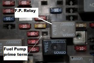 blazer fuel pump test connector blazer forum chevy