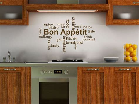 Bon Appetit Kitchen Products by Kitchen Wall Quote Bon App Wall Sticker Decal Transfer