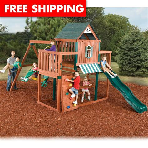 swing sets for sale kmart swing n slide winchester wood swing set for sale