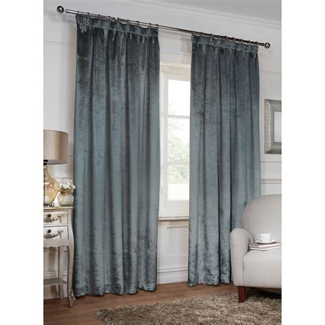 b m curtains versailles crushed velvet fully lined curtains 46 x 54