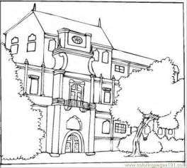Printable Coloring Page Beautiful Bungalow Architecture &gt Houses sketch template