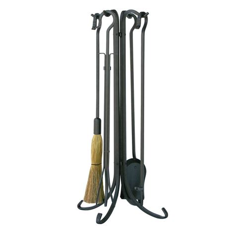 uniflame olde world iron 5 fireplace tool set with
