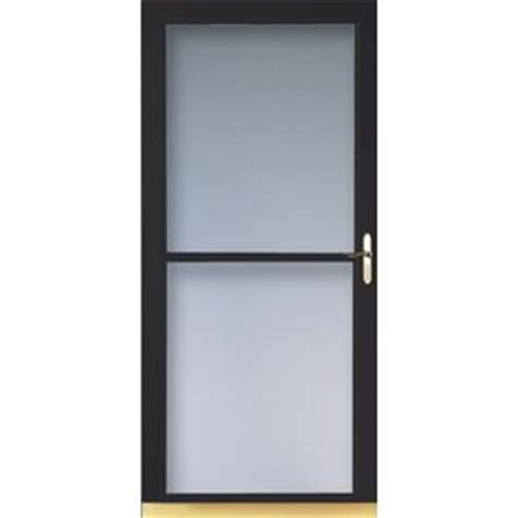 Larson Door Retractable Screen Replacement shop larson 32 in w black retractable screen door at lowes