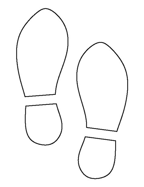 footprint pattern template shoe print pattern use the printable outline for crafts