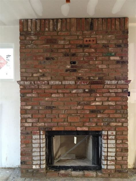 Reclaimed Brick Fireplace reclaimed brick fireplace i m thinking this is how our