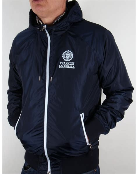 franklin and marshall uni zip hooded jacket navy franklin and marshall from 80s casual classics uk