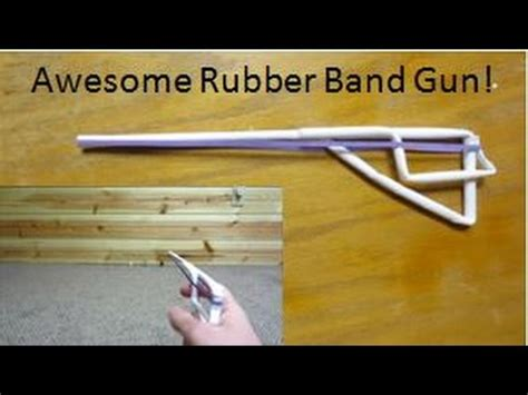 How To Make A Paper Rubber Band Gun - how to make a paper rubber band gun