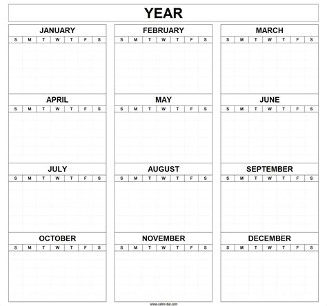 blank one month calendar template printable blank yearly calendar printable blank year