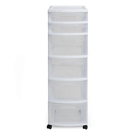 Sterilite 6 Drawer by Sterilite 174 White 6 Drawer Cart Big Lots