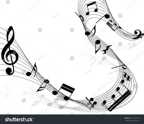 dark color musical notes vector musical design elements music staff treble stock vector