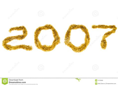 2007 Year Of The New by New Year 2007 Stock Photo Image 1373930