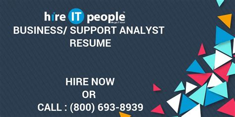 Business Support Analyst business support analyst resume hire it we get it done