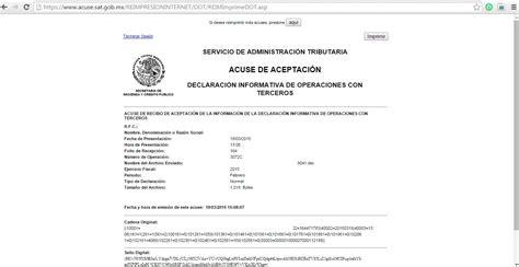 01 acuse de recibo de la declaracin reimpresi 211 n de acuses acceso con firma electr 211 nica