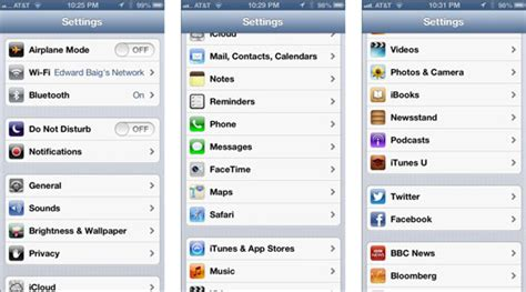 your iphone s settings menu options dummies