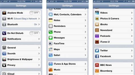 iphones settings menu options dummies