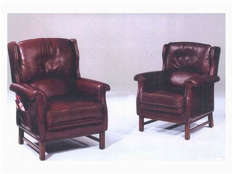 traditional armchairs for waiting area with magazine rack