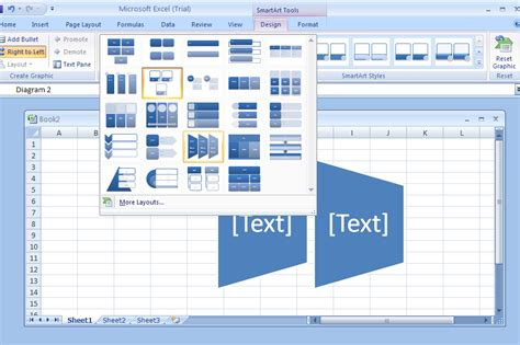 live layout microsoft word excel change a smartart graphic layout