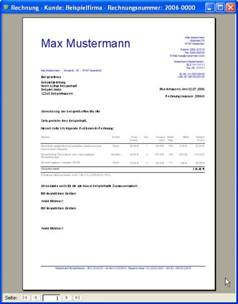 Freiberufler Rechnung Mit Steuernummer rechnungsvorlage f 252 r freelancer kostenlos runterladen