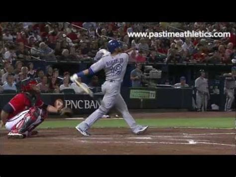 the perfect baseball swing in slow motion jose bautista slow motion home run baseball swing