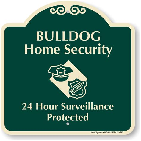 bulldog home security signature sign sku k2 4245