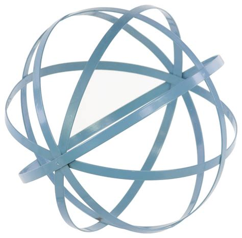 metal orb dyson sphere design decor large steel blue
