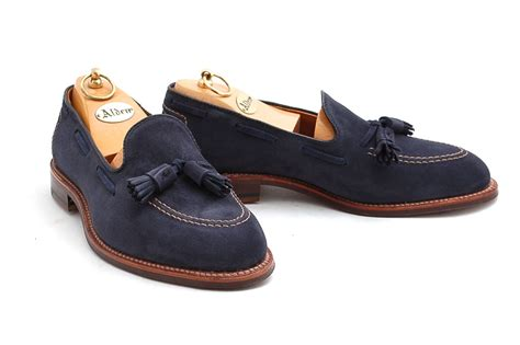 mens navy tassel loafers alden navy suede tassel loafer leffot the loafer