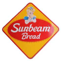 Earth Home Decor 1950 s metal sign quot sunbeam bread quot at 1stdibs