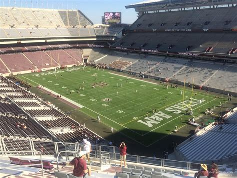 kyle field visitor section kyle field section 351 rateyourseats com